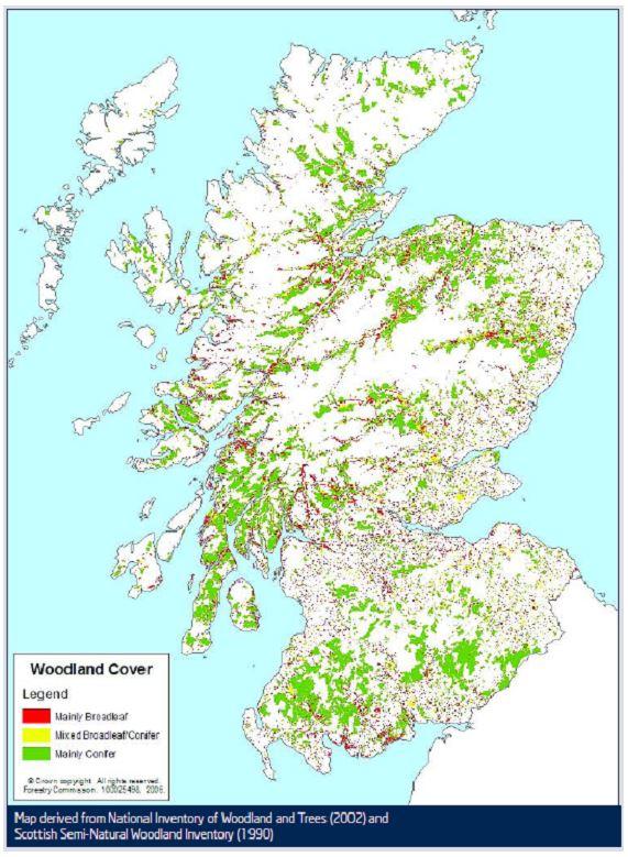 MAP_Scottish Woodland Cover